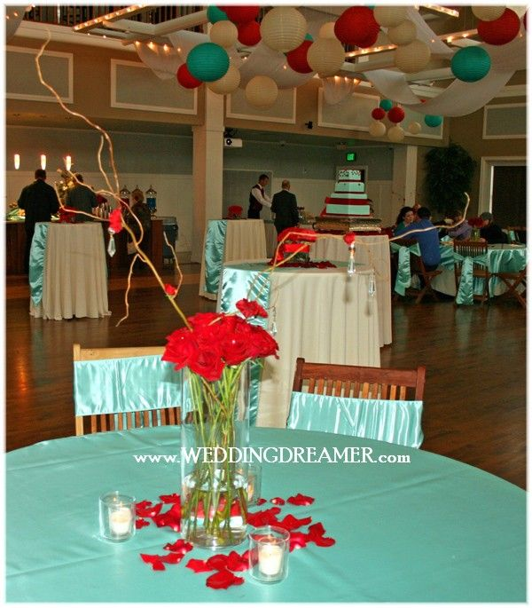 Red And Tiffany Blue Wedding Ideas: Tiffany Blue And Red!