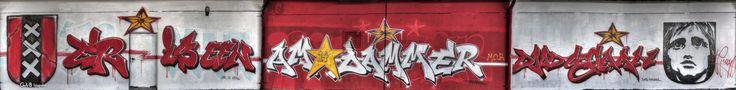 https://flic.kr/p/FMynPG | grafitti tribute to Johan Cruijff | tekst: er is een Amsterdammer dood gegaan