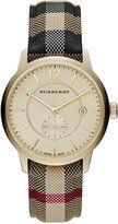 Burberry Unisex Swiss Honey Check Fabric Strap Watch 40mm BU10001