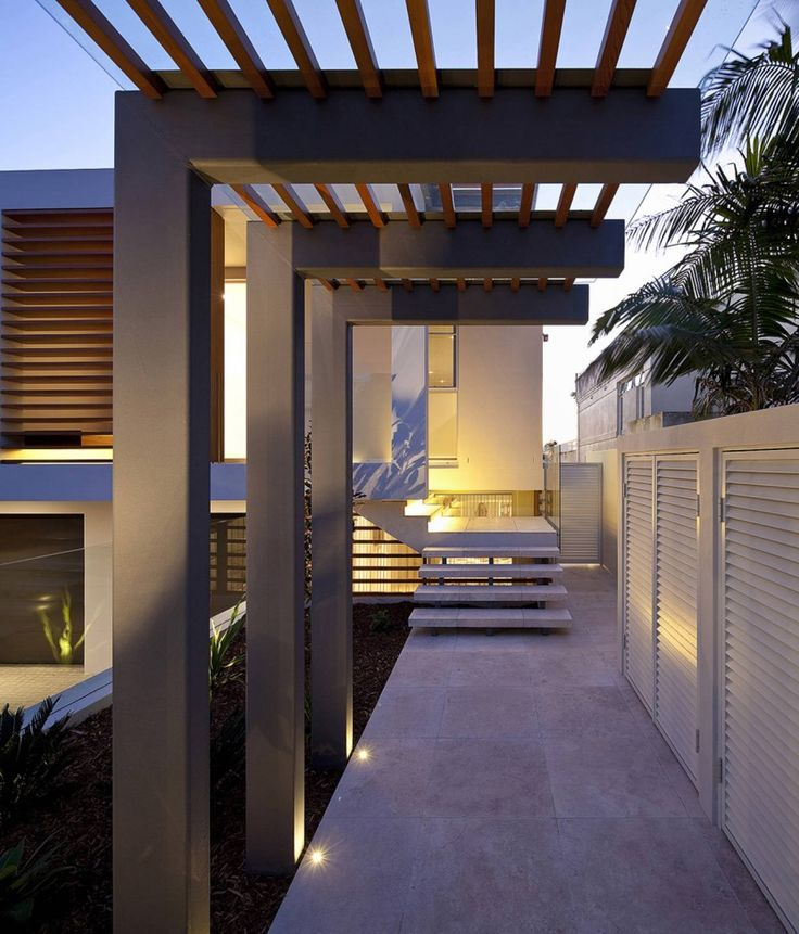 Modern architecture stairs entrances lighting design portland street duplex by