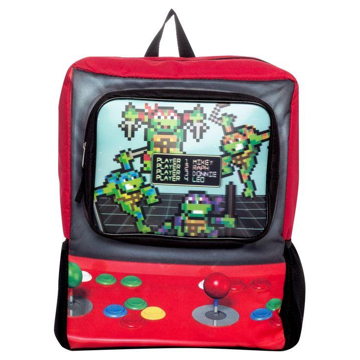 Nickelodeon 16.5 Teenage Mutant Ninja Turtles Arcade Game Kids' Backpack - Green