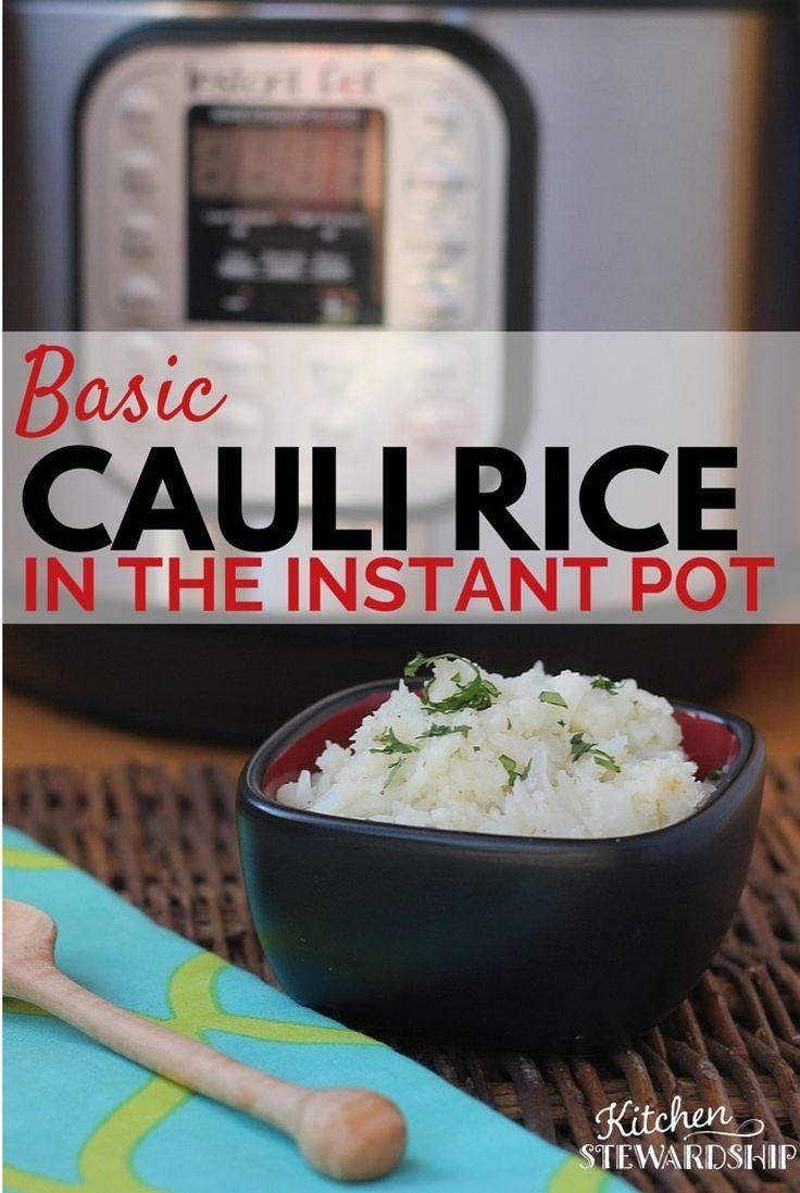 You can make grain-free cauli rice in the Instant Pot  http://www.kitchenstewardship.com/2016/03/11/instant-pot-cauli-rice/