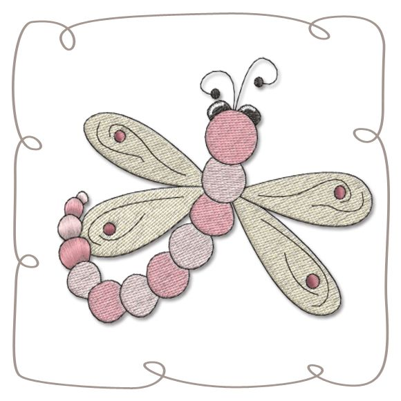 Dragonfly Machine Embroidery Design Pattern-INSTANT DOWNLOAD