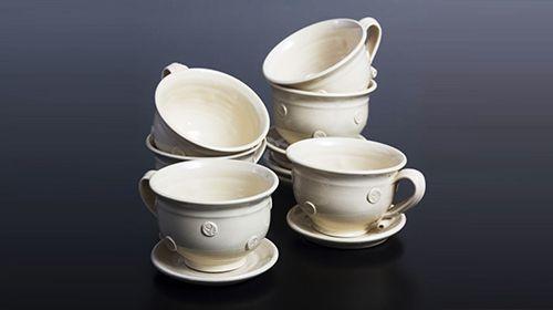 Fehér teáscsészék, 4 db-os készlet (6900.-ft), 6 db-os készlet (9800.-ft)