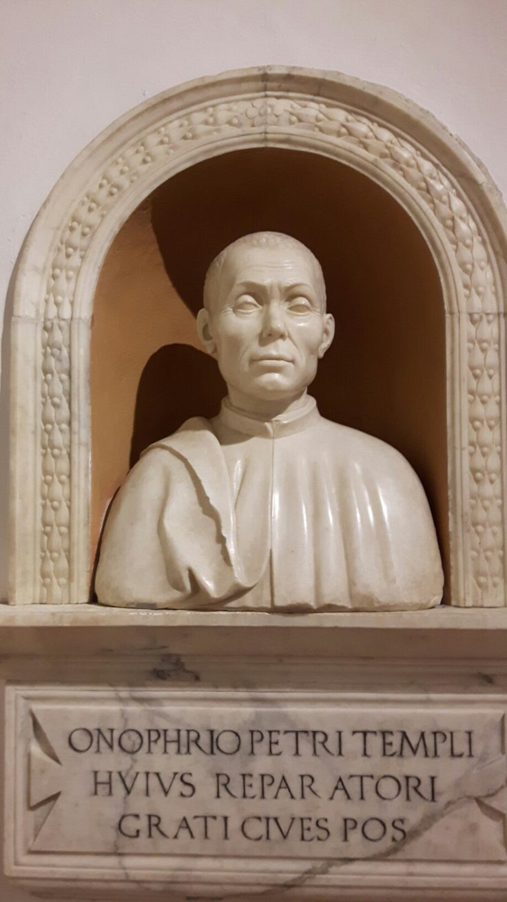 Busto di Onofrio di Pietro.  1493. San Geminiano.