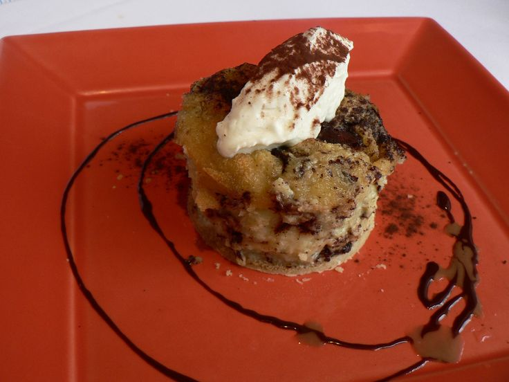 Chocolate Cinnamon Bread Pudding Muffins for dessert or snack served ...