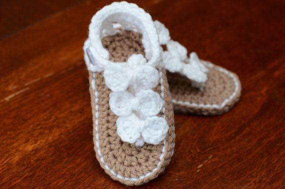 Crochet sandales bébé sandales pour bébé par TheRainbowDesigns