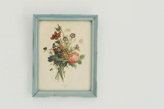 Gorgeous vintage botanical print for gallery wall   Floral print by J.L. Prevost   Unique Mother's d