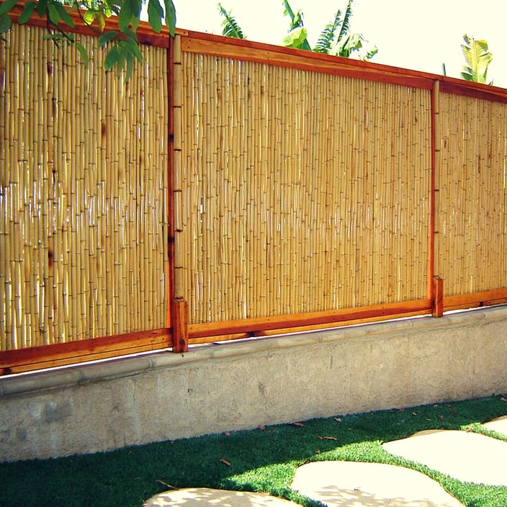 bamboo fences are a great way to enclose any backyard with privacy and peace and