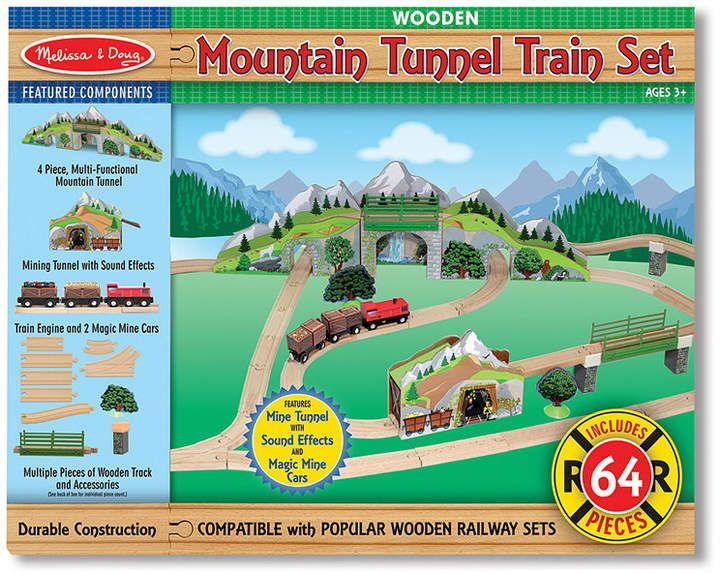 Melissa Doug Mountain Tunnel Train Set In 2019 Wooden