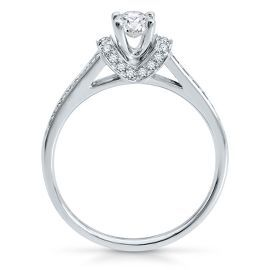 Helzberg Diamond Masterpiece® 1/2 ct. tw. Diamond Engagement Ring in 18K Gold - Engagement Rings - Rings - Jewelry - Helzberg Diamonds