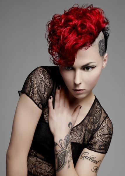 color by Audrey Adrine PetrosyanHair Colors Ideas, Red Hair, Shorts Hair, Hair Tattoo, Punk Hair, Bright Hair, Red Black, Girls Hair, Colors Hair