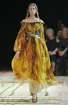 McQueen: Spring Summer 2011, Alexander Mcqueen A, Paris Fashion Week, Sarah Burton, Yellow Dresses, Dresses Fashion, Couture, Alexander Mcqueen 2010, The Dresses