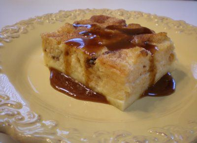 Panettone Bread Pudding with Cinnamon Sauce | Wives with Knives