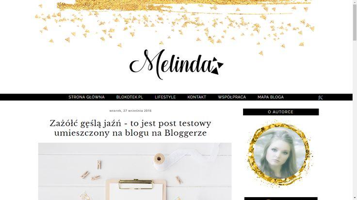Szablon dla Bloggera - Melinda