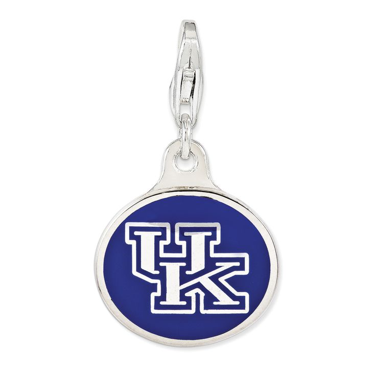 Sterling Silver Enamel Univ. of Kentucky w/ Lobster Clasp Charm QCC1132