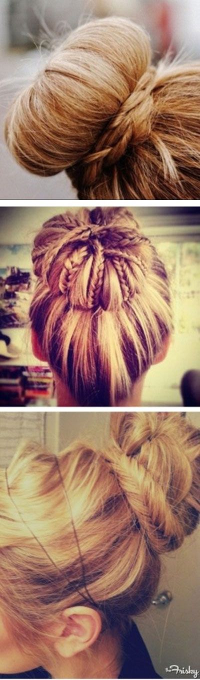 11 Interesting And Easy Hair Bun Ideas Hair bun ideas with braids http://interestingfor.me/hair-bun-ideas