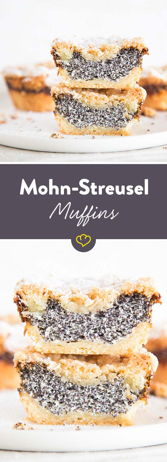 I love MohnKuchen, but it takes forever to make. Maybe these mini muffin versions will be a bit simpler.