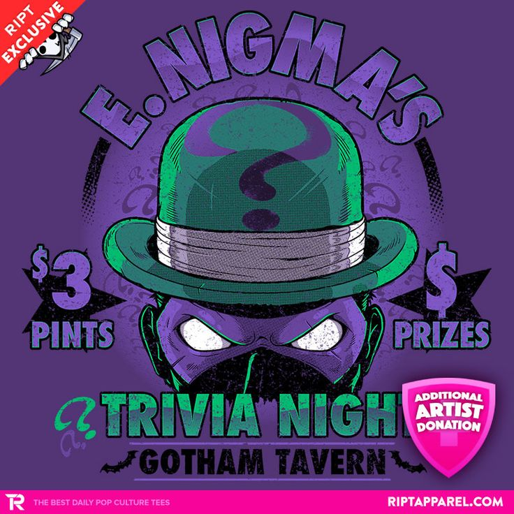 Graveyard Trivia night, Trivia, Pop culture shirts
