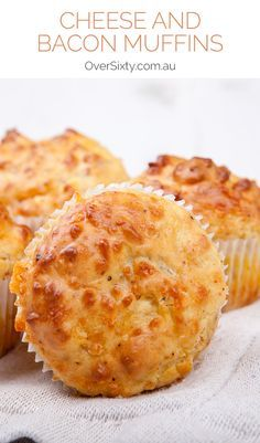 Cheese and Bacon Muffins - An easy, delicious and savoury muffin that's great for breakfast or an on-the-go snack.