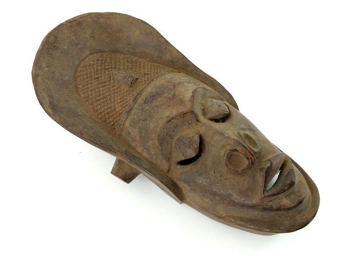 MASKA PENDE DREWNIANA (WYS. 30 CM, KONGO, SZTUKA AFRYKI, AFRYKAŃSKA)