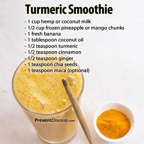 Tumeric smoothie recipe.