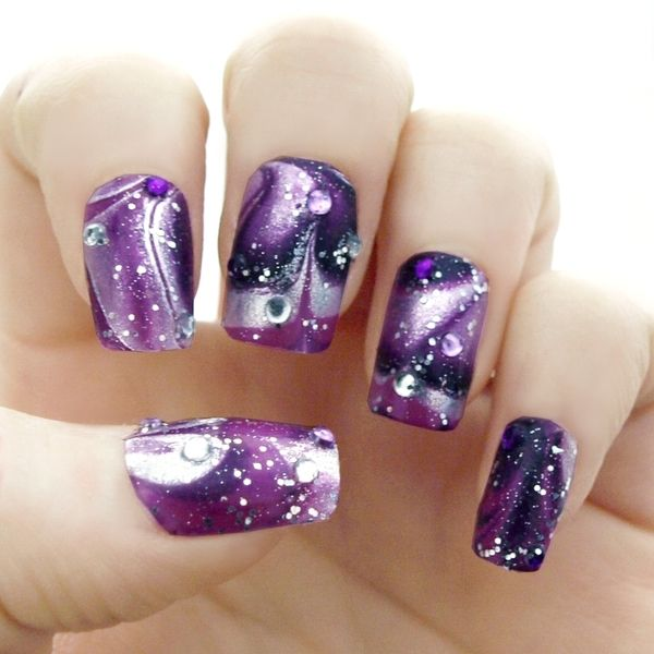 Outer-Space Inspired Water Marble