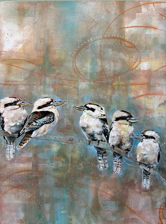 Kookaburras <3 art - David Hale - family