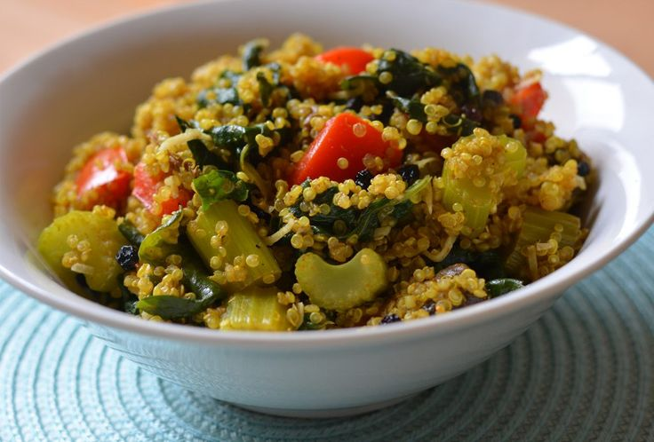 Coconut and Currant Curried Quinoa
