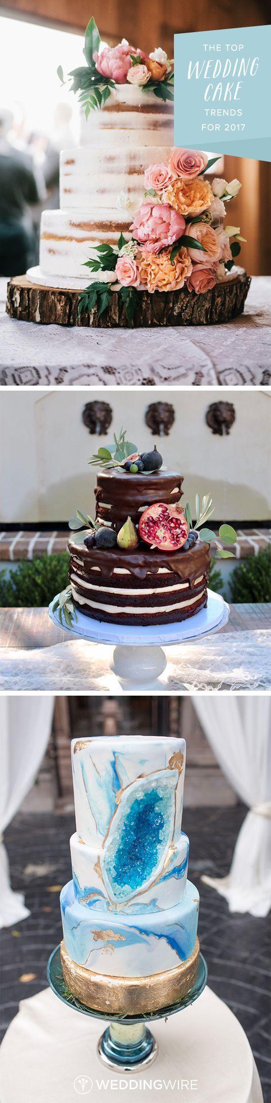 Modèle et Tendances pièce montée 2017   Image    Description   Les dernières tendances du gâteau de mariage pour 2017 - Des gâteaux semi-nus pour goutte à goutte, obtenez un pic de ces délicieux gâteries de mariage Sur WeddingWire!