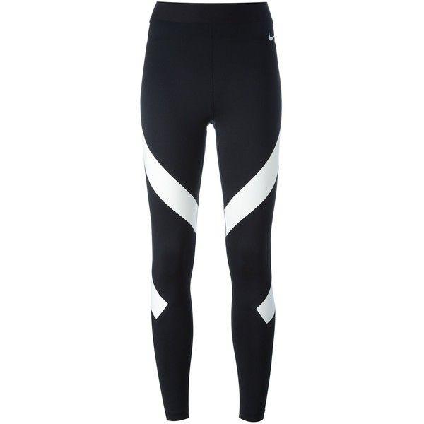 Nike NikeLab X RT Pro Tight Leggings ($175) ❤ liked on Polyvore featuring pants, leggings, black, legging pants, nike pants, stretch waist pants, nike and mesh-panel leggings