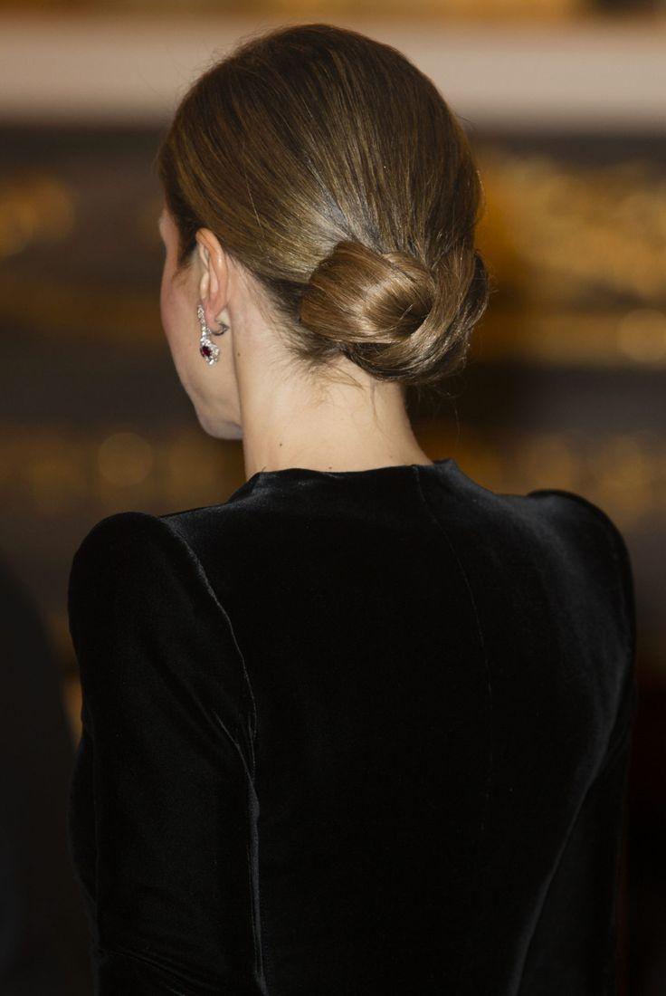 Detalle peinado Reina Letizia