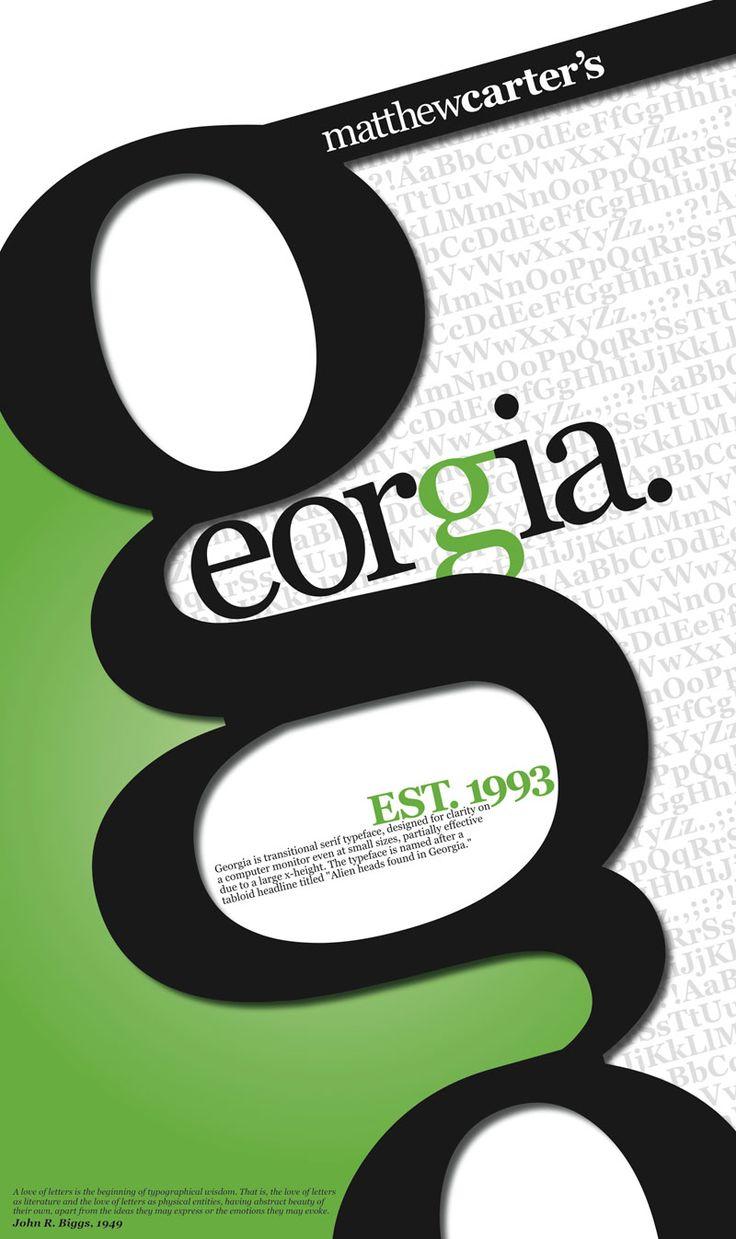 Georgia  | Type Specimen Poster