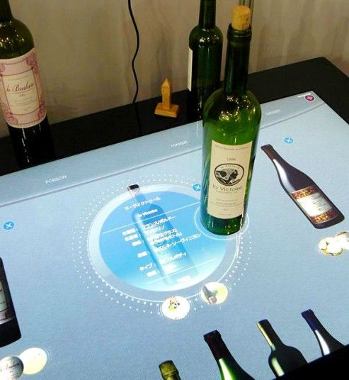 The Touch Surface Sommelier #interactive #surface #touchscreen #wine