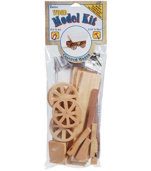 Wood Model Kit-Covered Wagon