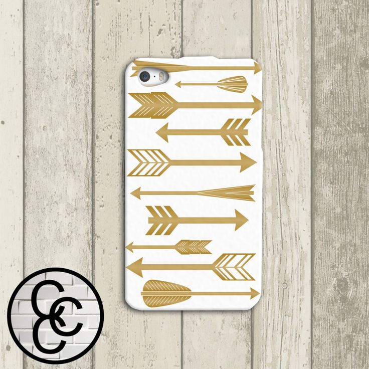 Gold Metallic Arrows Custom iPhone Case for by CourtsCuteCases, $16.99