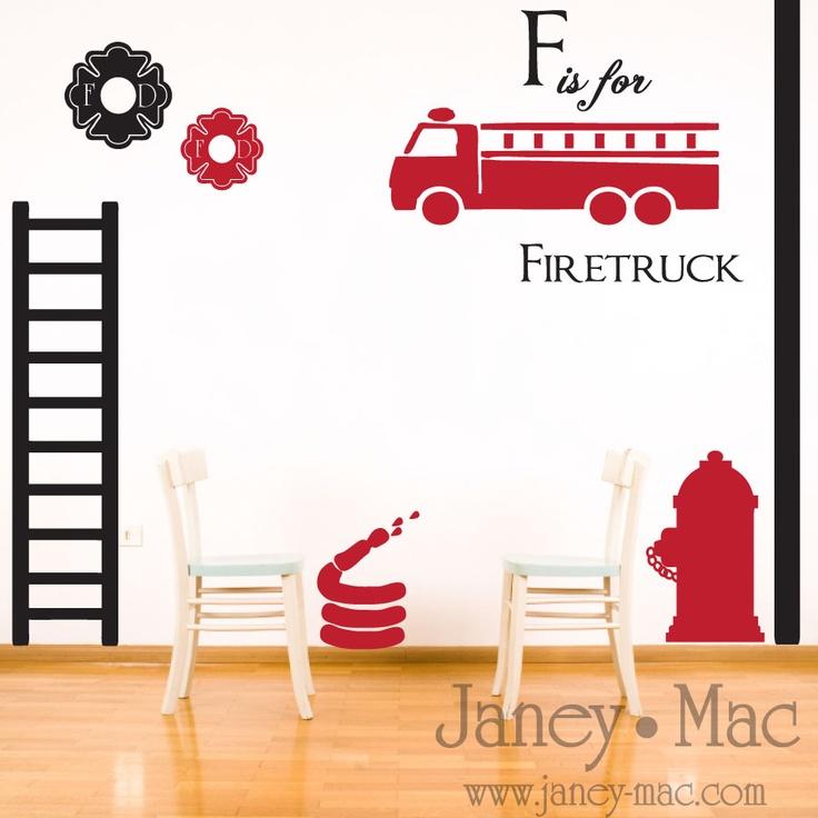 Janey Mac: Firefighter Room Set