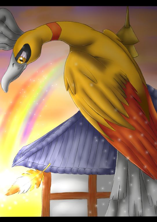 Pokemon: Shiny Ho-Oh by Ink-Leviathan on DeviantArt