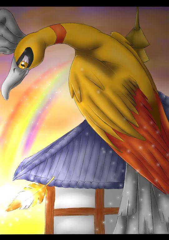 Pokemon: Shiny Ho-Oh by Ink-Leviathan.deviantart.com on @deviantART