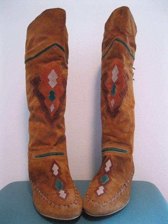 ☯☮ॐ American Hippie Bohemian Style ~ Vintage Moccasin Boots