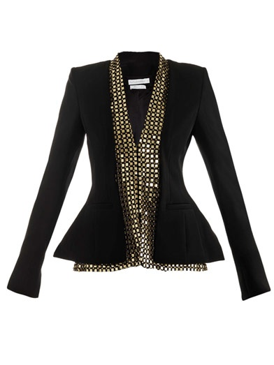 Sometimes a simple black blazer needs to be anything but....(Altuzarra, $2,508)