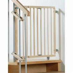 Barrière de sécurité pour escaliers bois naturel (99,5 à 140 cm) - Geuther