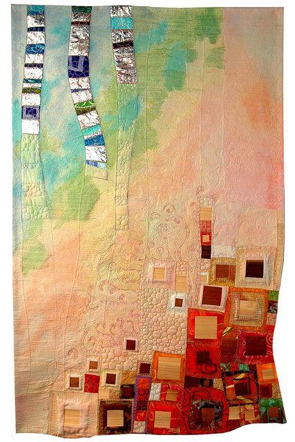 : Color, Art Journals, Log Cabins, Gorgeous Quilts, Quilts Art, Art Quilts, Logs Cabins, Modern Quilts, Fabrics Art