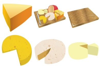 Cheese Icons - Artwork by Robin Weatherall