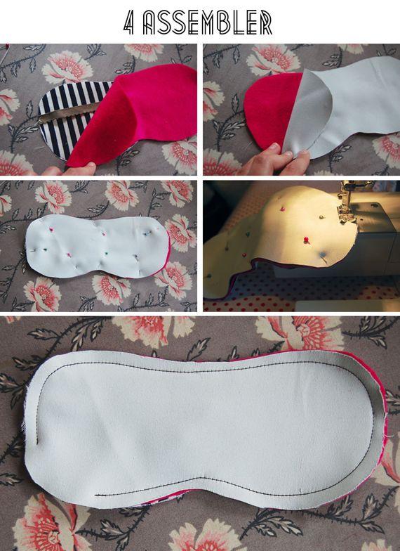 DIY masque sommeil 4 épaisseurs (tissu occultant, doux, coton)