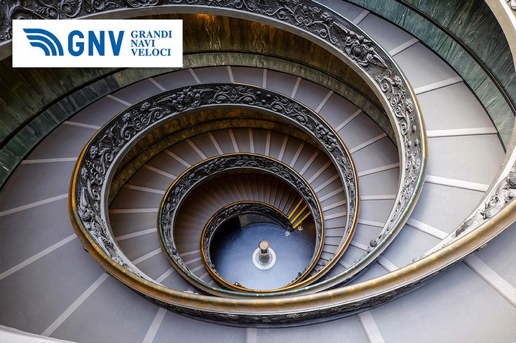 #Spiral #stairs of the #Vatican #Museums in #Vatican, #Rome, #Italy. Discover #GNV routes in our website:www.gnv.it/en/