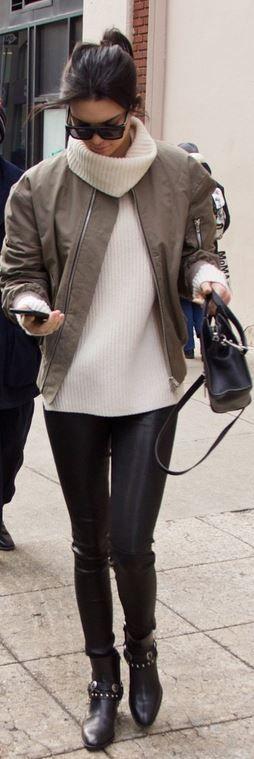 Purse and sunglasses – Celine Pants – J Brand shoes – Saint Laurent       L8007 Leather Legging