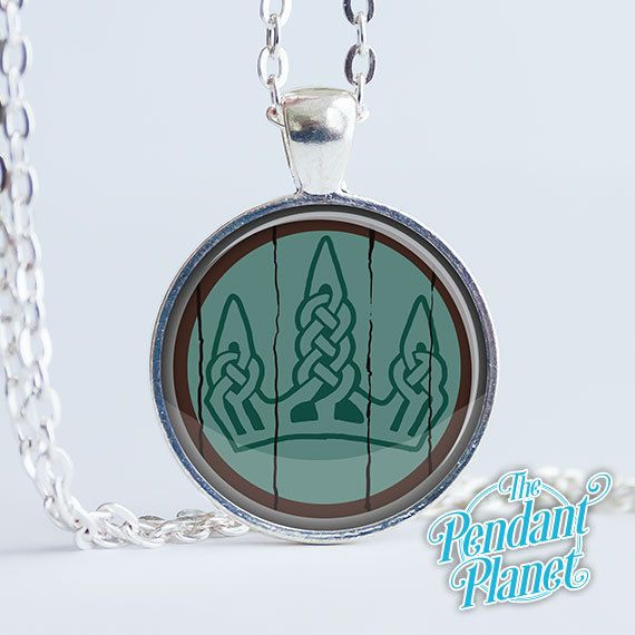 Winterhold Shield Necklace Skyrim Jewelry by ThePendantPlanet