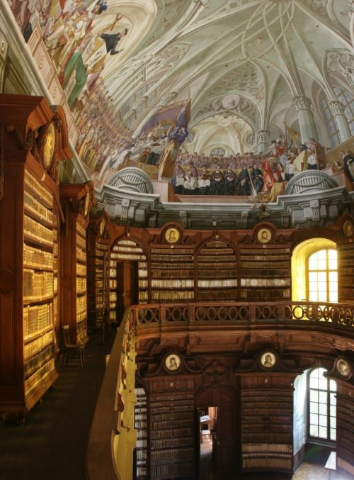 The Eger Lyceum Archdiocesan Library in Eger, Hungary