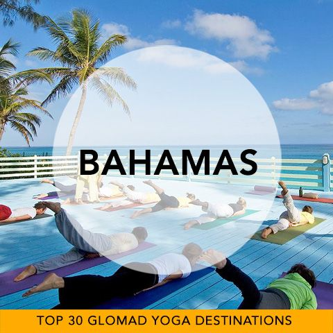 Glomad's 'Top 30 Global Yoga Destinations' No.26 – Bahamas  It has got to be photoshopped right? No. The Ocean really is THAT Turquoise and the skies are ridiculously blue. This is getting away from it all Yoga on heat. Take a peek...  there's some rather superbly located ashram experiences to be discovered. #bahamas #yogatravel #glomad